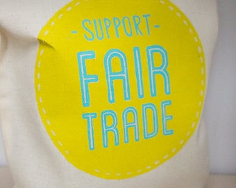 Support Fair Trade Grocery Shopping Tote Bag