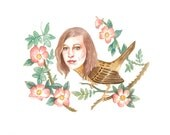 Joanna Newsom as a beautiful little bird