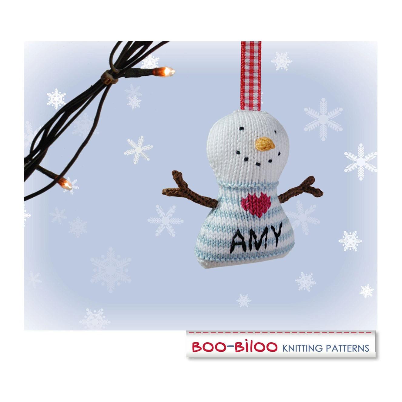 Snowman Knitting Pattern. Christmas Decoration / Holiday