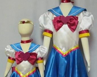 Child Sailor Chibi Chibi Moon Cosplay Costume Size 18mo 2 3 4 5 6 7 8 9 10 11 12 14