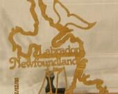 LABRADOR NEWFOUNDLAND CANADIAN Provinces Scroll Saw Plaque