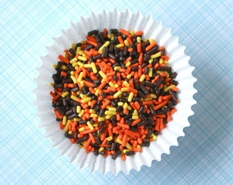 Fall Sprinkles, Thanksgiving Jimmies, Autumn Sprinkles (4 oz)