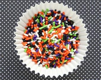 Halloween Sprinkles, Halloween Sprinkle Mix, Halloween Jimmies, Halloween Cupcake Sprinkles (4 oz)