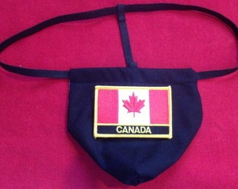 Mens CANADA Winter Olympics G-String Thong Male Soccer World Cup Lingerie Country Underwear
