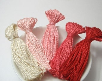 Pink Ombre Tassel Set for Jewelry or Clothing