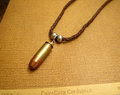 Bullet Necklace Unisex Necklace Leather Necklace Beaded Necklace