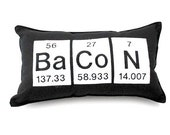 Bacon  Pillow,  Geeky Periodic Table  Gift,  Science Chemistry