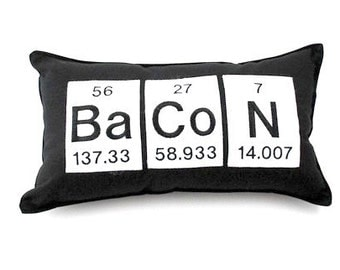 Periodic table geeky nap pillow chemistry elements bacon pillow geeky periodic table gift science chemistry urtaz Choice Image