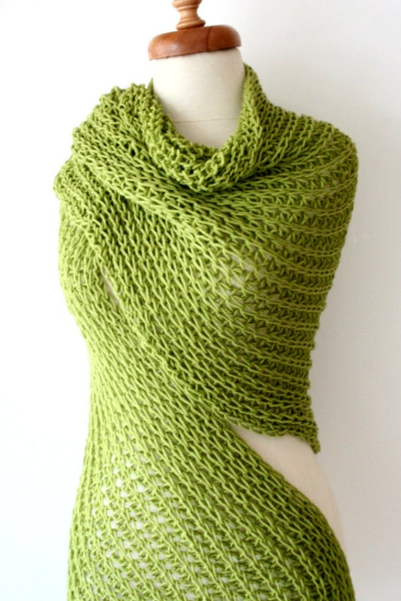 Christmas Gift,  Winter Scarf,  Green Shawl, Women Scarf, Fashion Scarf