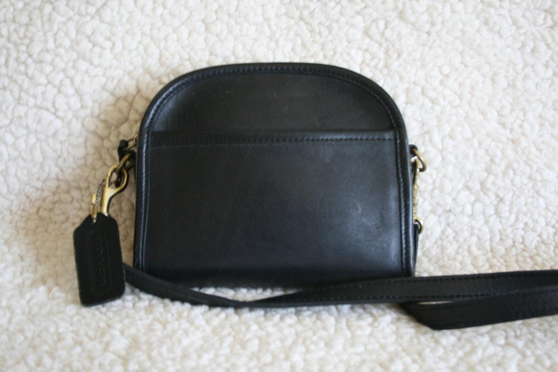 Coach Small Black Satchel Leather Purse By Grandmafliesabroom