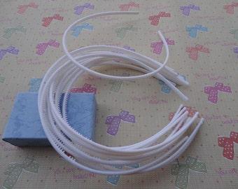50pcs 4mm white plastic headband with teeth