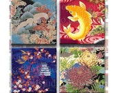 Buy 2 GET 1 FREE - Instant Download - Asian Floral Collage Sheet 1 inch for pendants, jewelry, stickers, glass tile, hair bows, magnets. 349