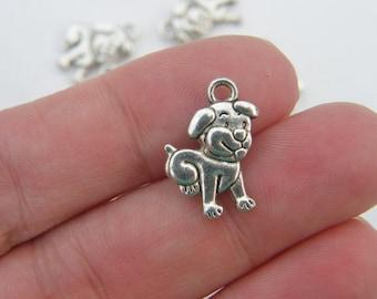 8 Dog charms ibetan silver D16
