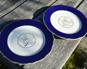 Vintage Set of 2 Nautical / Yacht Club Dinner Plates by Syracuse China