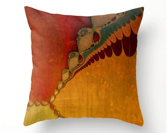 Fiery Southwestern Sunset No.2 - decorative throw pillow home decor colorful accent cushion