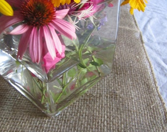 BURLAP Table RUNNERS 12x84 quantity 10 available