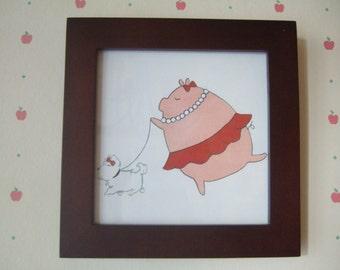 Fancy Pig - 5x5 Print