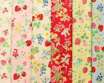 6 pieces of fabrics - Candy berry  by Atsuko Matsuyama - Printed in Japan