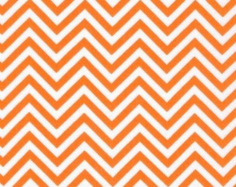Remix colors by Ann Kelle and Robert Kaufman, Zig Zag/Chevron in Tangerine 1/2 yd total
