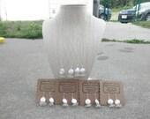 Coin Pearl Wedding Set of 4 Lake Erie Beach Glass Ohio