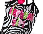Custom Birthday Girl Personalized Zebra Animal Print Leotard Design Your Own - SALE