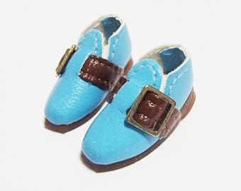 Blue Casual Buckle Shoes for BJD Dolls Lati Yellow, PukiFee, Riley Kish, Bobobie Nissa, DIM Silf, Dollk S00068C