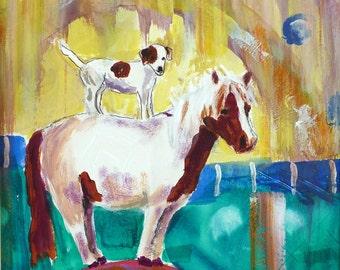 A One Trick Pony Art Print by Maure Bausch