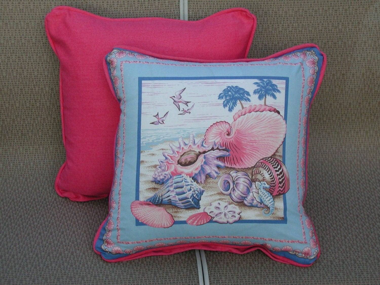 Sea Shell Pillows Pink Accent Pillows Pink Toss Pillows