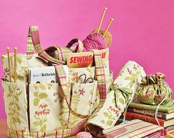 Knitting Tote Pattern, Sewing Tote Pattern, Needle Case Pattern, Butterick Sewing Pattern 5006