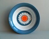 Blue White and Orange Daisy Bowl from Figgjo Flint Turi Design Norway