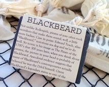 BLACKBEARD bar anise and amyris scented activated charcoal cold processed soap