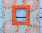 Zinnia Orange Ombre Distressed Frame 5x7 in Versatile Grey and Orange