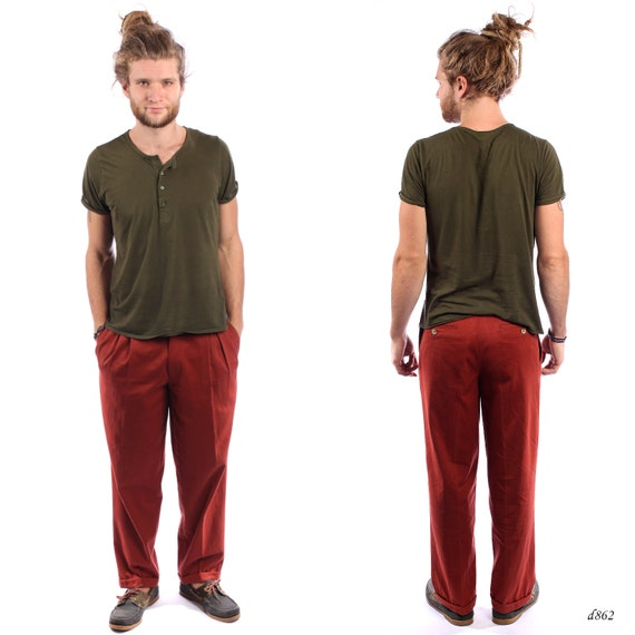 vintage trousers chino mens by