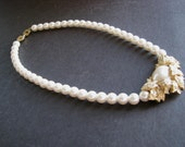 Vintage Richelieu Rhinestone Glass Pearl Necklace AS IS
