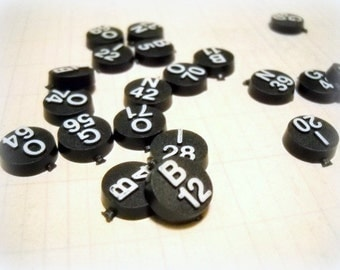 Black & White Bingo Game Pieces / Lot of 20