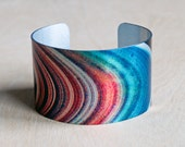 NASA Saturn's Rings - Aluminum Cuff Bracelet - Photography - Handmade - Unique Gift - Wearable Art!