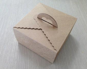 10 Kraft Tote Bakery Boxes (Big size)