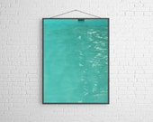 Turquoise Mid Century Swimming Pool Fine Art Photography Minimal Modern Wall Decor