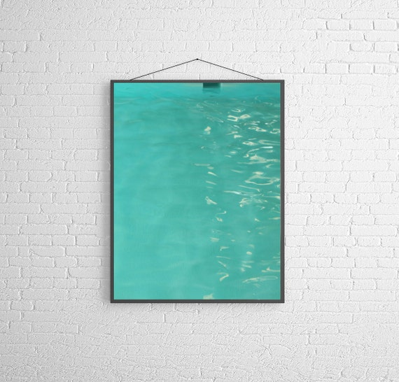 Items Similar To Turquoise Mid Century Swimming Pool Fine