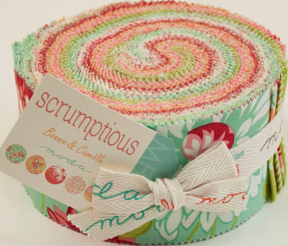 Sale scrumptious jelly roll modern quilt fabric moda for Quilting fabric sale