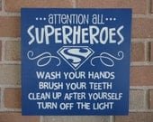 Bathroom Sign Wash Your Hands Signtypography By Dawnspainting