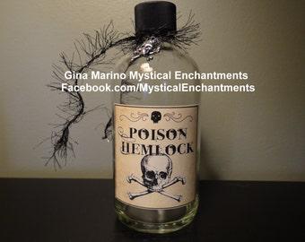 Poison Hemlock Halloween Potion Bottle
