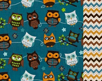 Hooty Hoot Nap Mat Cover - Basic Kindermat Cover