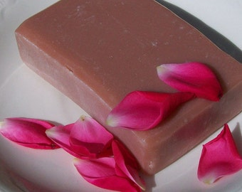 Rose Soap with Goat Milk and Shea Butter