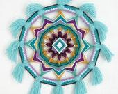 Gemstone Melody, an 14 inch, 12-sided Ojo de Dios mandala, by custom order