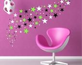 68 Stars Peel and Stick Wall Sticker Star Wall Decals Art Graphic Decor