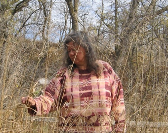 Beacon Blanket Pullover Shirt Jacket Camping Glamping Clothes Hand Made Clothing OOAK Gift For Her Cabin
