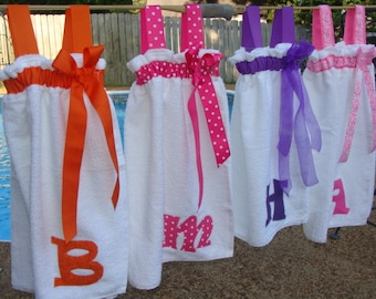 Swimsuit Cover-Up / Spa Wrap Personalized Choose your ribbon color