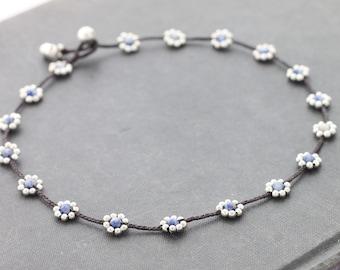 Daisy Sodalite Silver Necklace