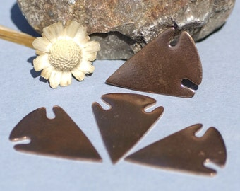 Copper Arrow Head Blanks Cutout Shape for Enameling Metalworking Soldering Blank,  Jewelry Supplies - 4 Pieces